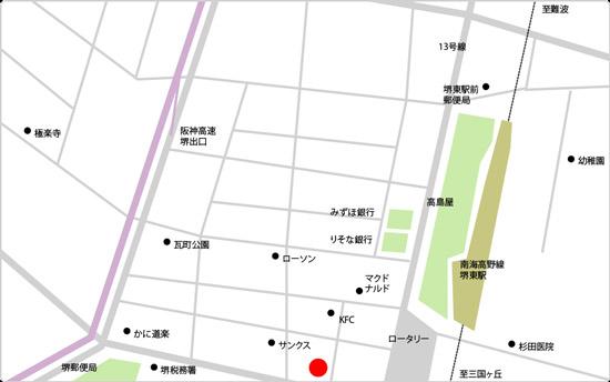BIDAN堺東駅前店の地図