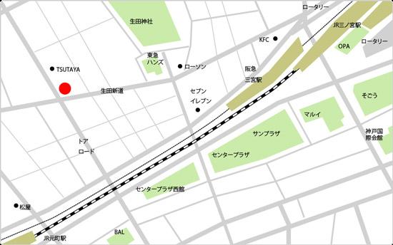 BIDAN三宮店の地図