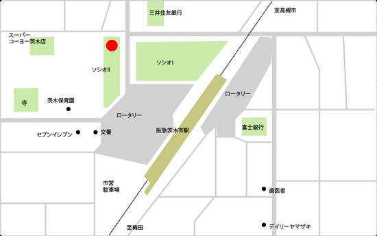 BIDAN茨木市駅前店の地図