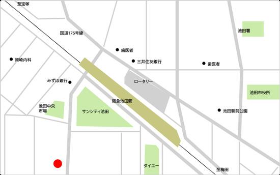 BIDAN池田駅前店の地図