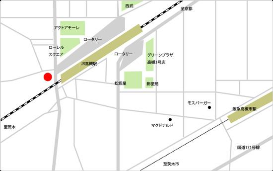 BIDAN高槻駅前店の地図