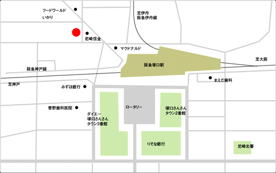 BIDAN塚口駅前店の地図