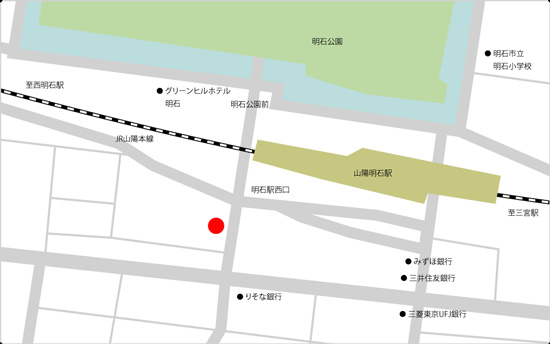 BIDAN明石駅前店店の地図