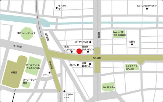 BIDAN難波店の地図