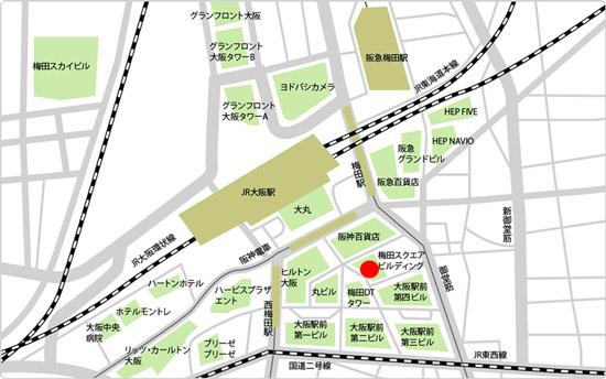 BIDAN梅田駅前店の地図