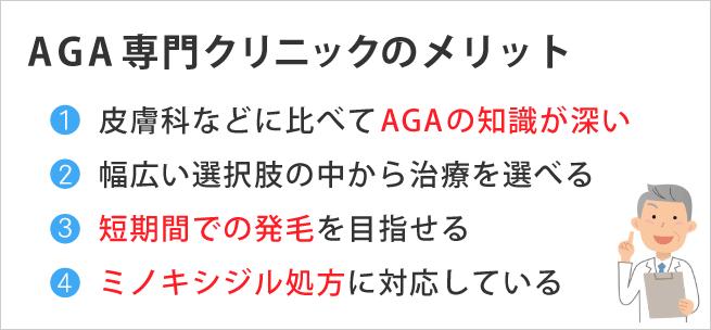 薄毛AGA専門クリニックのメリット3