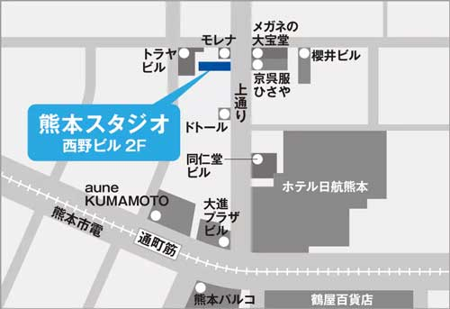 スベンソン熊本スタジオ地図アクセス