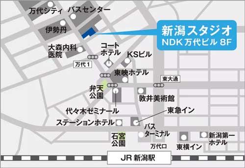 スベンソン新潟スタジオ地図アクセス